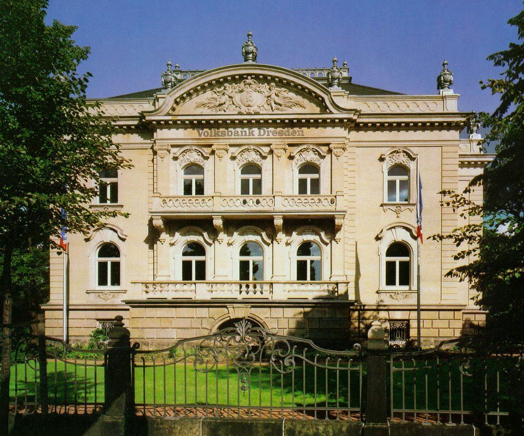 Villa Eschebach Zentrale Dresdner Volksbank Albertplatz, Dresden