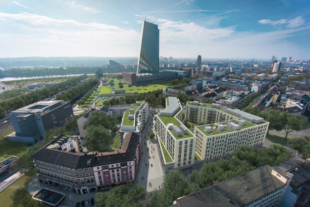 Eastside Estate Hotel, Wohnungen, Gewebe Hanauer Landstraße/Ernst-Achilles-Platz 3, Frankfurt am Main
