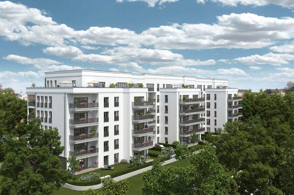 Wohngebäude, Mietwohnungen Stresemannallee, Frankfurt am Main